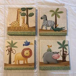 Safari Nursery Decor Paintings